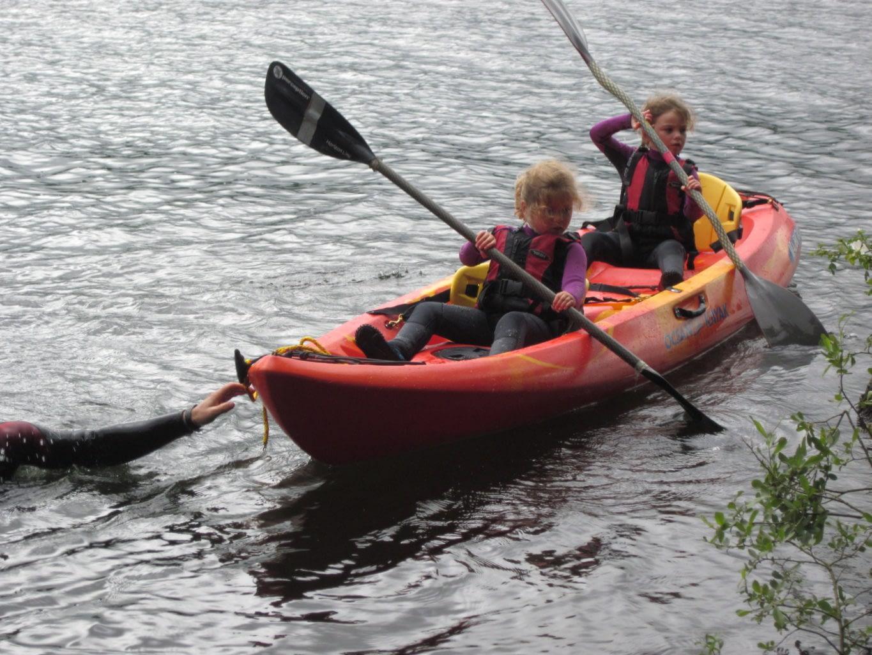Children Kayaking in the Lake District
